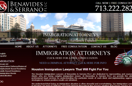 Benavides & Serrano, PLLC - Houston Based Immigration and Criminal Defense Lawyer