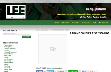 Lee Tools - E-Commerce website